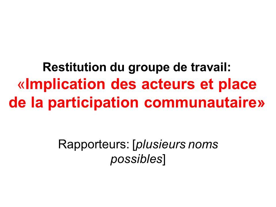 Rapporteurs: [plusieurs noms possibles]